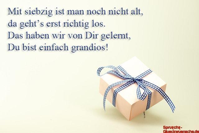 Lll Sprüche Zum 70 Geburtstag Herzlich Und Lustig